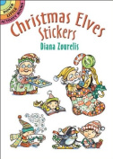 Christmas Elves Santa Helpers Cookies Sticker Set - 25 Stickers