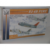 FJ-4B Fury Jet Fighter Aircraft--Plastic Model Kit
