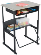 Safco AlphaBetter Desk with 28''W x 20''D Kydex Top with Book Box