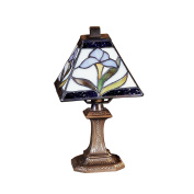 Dale Tiffany TA100353 Antique Brass Miniature 15.2cm x 27.9cm Irene Mini Accent from the Miniature Collection