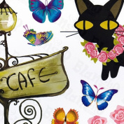 Kitty Couple - Wall Decals Stickers Appliques Home Decor