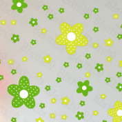 Green Floral Design - Large Wall Decals Stickers Appliques Home Decor