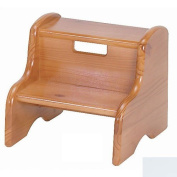 Little Colorado 105WDSW Wooden Step Stool in Solid White