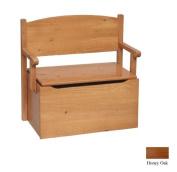 Little Colorado 017HONC Bench Toy Box - Honey Oak-No Cutout