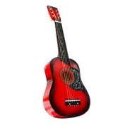 60cm Acoustic Toy Guitar for Kids with Carrying Bag and Accessories - Red. DirectlyCheap