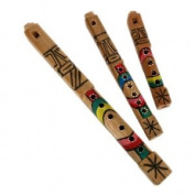 Tarka Wooden Native Hand Carved Wood Flute, Set of 3 Sizes