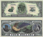 Set of 10 Bills-ST. Patrick's Day Four Dollar Bill