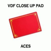 VDF Close Up Pad with Printed Aces (Red) by Di Fatta Magic