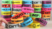 Big Bold French Wristbands Set of 40