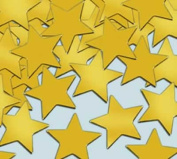 Beistle - 50621-GD - Fanci-Fetti Stars- Pack of 12
