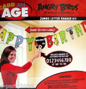 Angry Birds Birthday Party Jumbo Letter Banner Kit Customizable Over 3m Long Letters 25cm Tall