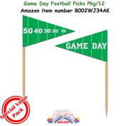 Game Day Football Picks 2½in. (50/pkg) Pkg/3