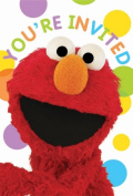 Amscan 220669 Sesame Street Party Invitations