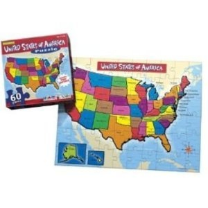 United States of America Map Puzzle 60 Piece (Includes State ...
