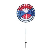 In the Breeze Triple Wheel Patriotic Garden Spinner