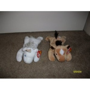Set of 2 Horse/Unicorn Beanie Baby's-Derby and Mystic