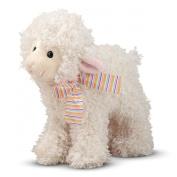 Melissa and Doug 10'' Plush Fleecie The Lamb Stuffed Animal