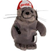 Coke Seal in Red Baseball Cap Bean Bag Plush #0107