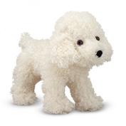 Melissa and Doug 10'' Plush Fluffy The Bichon Frise Puppy Stuffed Animal