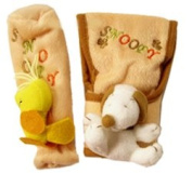 Peanuts Snoopy & Woodstock Car Gear and Brake Covers 2pc Set - Snoopy Car Accessories