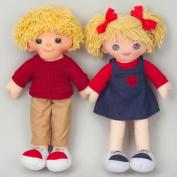 Dexter Educational Toys DEX306W Dexter Boy and Girl Dolls Caucasian