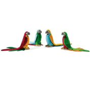 Parrot Toy Reproduction By Hansa, 6'' Tall -Affordable Gift for your Little One! Item #DHAN-3326