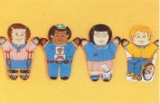 Dexter Educational Toys DEX830H Special Needs 4-pc. Puppet Set - Hispanic