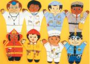 Dexter Educational Toys DEX850W Community 8 Piece Puppet Set - Caucasian