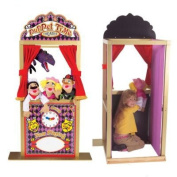Melissa & Doug 2530 Deluxe Puppet Theatre with Prince Marionette and Princess Marionette Bundle