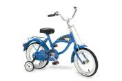 36cm Cruiser Bicycle with Training Wheels Blue, toddler bike, retro kids bike