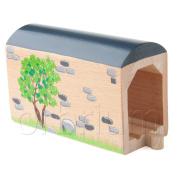 Orbrium Toys Large Wooden Train Tunnel Track Fits Thomas Brio Chugginginton set