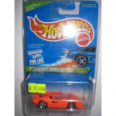 hot wheels treasure hunt 1996 10 of 12 lamborghini countach by mattel shop online for toys. Black Bedroom Furniture Sets. Home Design Ideas