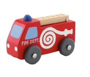 Miniature Wooden Toy Fire Engine