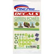 Pine Car Derby Decal 11cm x 13cm -Green Power