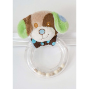 Blue Dog Ring Rattle by Douglas
