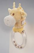 Yellow Giraffe Ring Rattle By Douglas