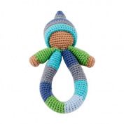 Pixie Ring Rattle - Blue