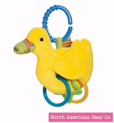 North American Bear Pond Pets Duck Ring Toy, Yellow