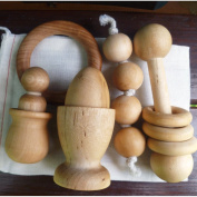 Wood Baby Toy Gift Set - Montessori Inspired