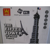 EIFFEL TOWER, PARIS - **HUGE** BUILDING BLOCK SET
