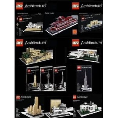 lego architecture set of 12 - robie house, frank lloyd wright