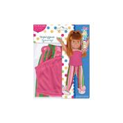 Springfield Collection Pyjama Outfit, Pink Top and Striped Pants