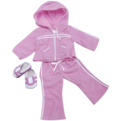 Springfield Collection Athletic Outfit-Purple Sweatsuit and Shoes