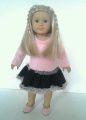 Pink Dress with Ruffled Bottom Complete with Shoes and Signature Bear for American Girl Dolls