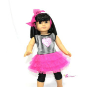 46cm Doll Clothes/clothing Fits American Girl - 3pcs Retro 80 Rockin Tulle Dress
