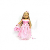 46cm Doll Clothes/clothing Fits American Girl - Pink Dress Headband & Purse