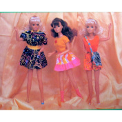 KELLY 3 Complete Fashions For Barbie, Victorian Lace, Great Length Kelly & 29cm Dolls
