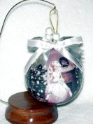 Barbie Decoupage Ornament & Wood Stand ~ Wal-Mart 35th Anniversary 1997