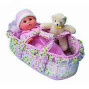 All About Baby Doll Little Bassinet Baby Baby Doll