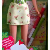 Strawberry Party Barbie Doll w Markers & Stencils!